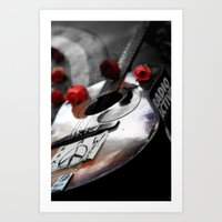 Guitar Strawberry Fields… Art Print