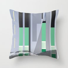 Rolling Through The Pines Throw Pillow