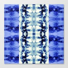 Tie Dye Blues Canvas Print