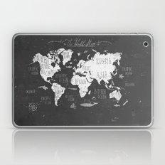 The World Map B/W Laptop & iPad Skin