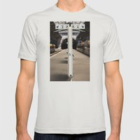 train station Mens Fitted Tee Silver SMALL