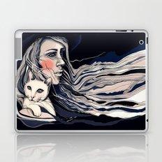 Girl and cat Laptop & iPad Skin
