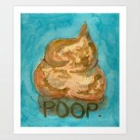 POOP. Art Print