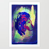 PRIMITIVE LION - 014 Art Print