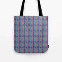 BLUE/RED BIRDS  Tote Bag