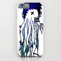 iPhone & iPod Case featuring Tentacle X by ḋαɾќṡhαḋøώ .