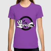Self inflicted  Womens Fitted Tee Ultraviolet SMALL