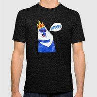 Ice King Looks Crazy See… Mens Fitted Tee Tri-Black SMALL