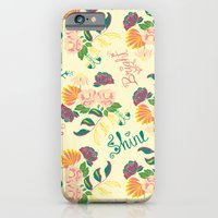 iPhone Cases featuring Shine Bright Floral by Alex Tilalila