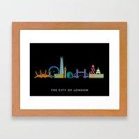 London Skyline Black Framed Art Print