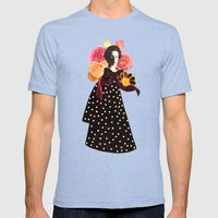a rose by any other name Mens Fitted Tee Tri-Blue SMALL