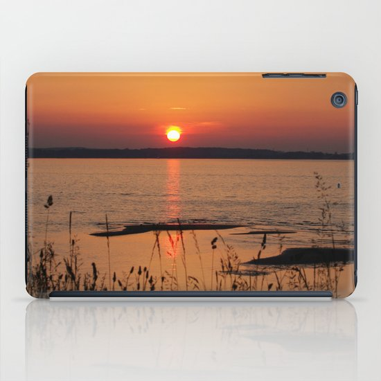 Grasses, backlit by the sea iPad Case
