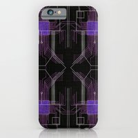 Circuit board purple repeat iPhone 6 Slim Case