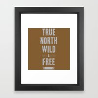 True North Framed Art Print