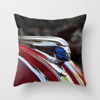 Retro Pontiac Hood Ornam… Throw Pillow