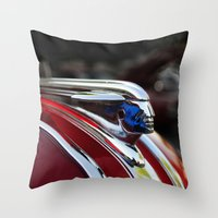 Retro Pontiac hood ornament from the Goodguy's Auto show Throw Pillow