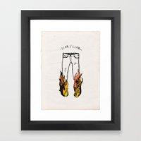LIAR LIAR Framed Art Print