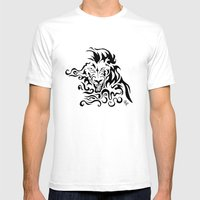 Lion Mens Fitted Tee White SMALL