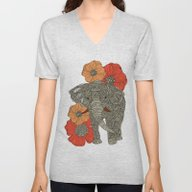 The Elephant Unisex V-Neck