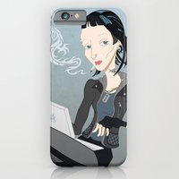 iPhone & iPod Case featuring Lisbeth Dragon Smoke by AnaMF