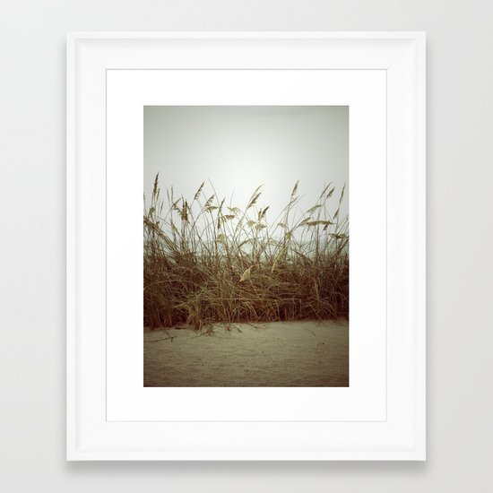 Beach Wheat Grass Framed Art Print