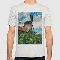 skatching windmill  Mens Fitted Tee Silver SMALL