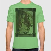 Medusa print Mens Fitted Tee Grass SMALL