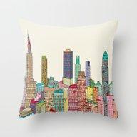 New York Modern  Throw Pillow