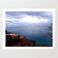 Positano: Amalfi Coast, … Art Print