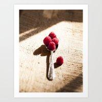 Raspberry Spoonfull  Art Print