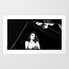 asc 655 - La pianiste (Romanian rhapsody) Art Print