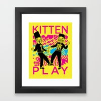 Kitten Play Framed Art Print