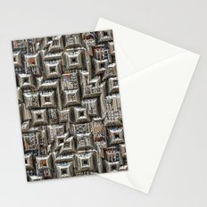 Abstract Geometric City Collage Stationery Cards