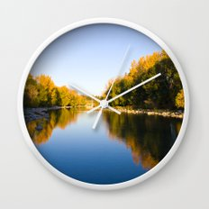 Autumn Reflections - Calgary, AB Wall Clock