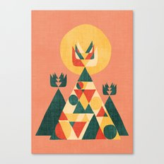 Sunset Tipi Canvas Print