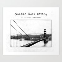 Golden Gate Bridge - San… Art Print