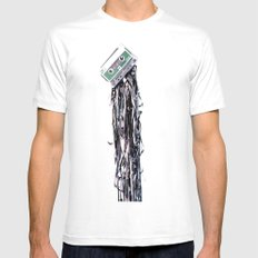 leakage White Mens Fitted Tee SMALL
