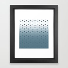 Blue Triangle Framed Art Print
