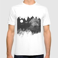 Torn Mounts Mens Fitted Tee White SMALL