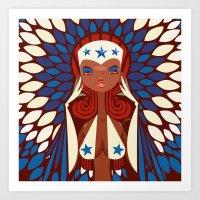 FIFA 2014 Samba Girls Series: Honduras Art Print