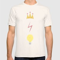 The Golden Trio Mens Fitted Tee Natural SMALL