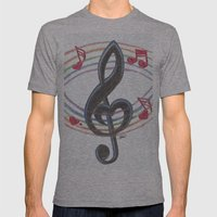 Love Note Mens Fitted Tee Athletic Grey SMALL