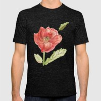 Poppy Mens Fitted Tee Tri-Black SMALL