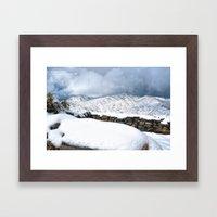 Snow on the Ruins Framed Art Print