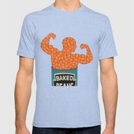 Beans Mens Fitted Tee Tri-Blue SMALL
