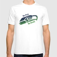 Re-Pete Seahawks! Mens Fitted Tee White SMALL