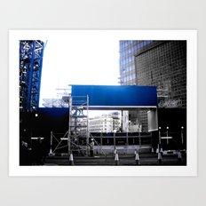 Blue Collar Worker (part 2) Art Print