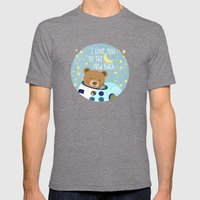 I love you to the moon and back Mens Fitted Tee Tri-Grey SMALL