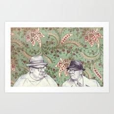Old Men Art Print