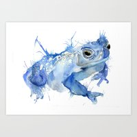 Big Blue Toad Art Print